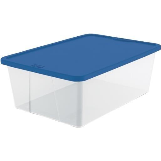 Homz Products/Storage 12Qt Clear Storage Tote 3212CLBL.08 Unit: EACH