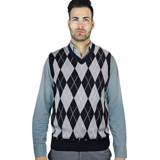 Men's Jacquard Argyle Sweater Vest (SV-245)