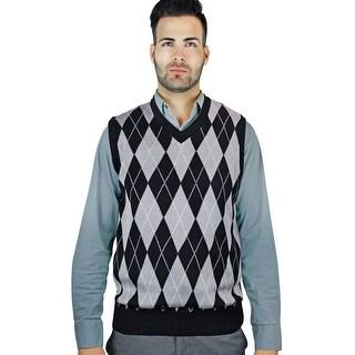 Men's Jacquard Argyle Sweater Vest (SV-245)