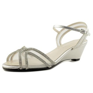 Caparros Hilton Women Open Toe Synthetic Silver Sandals
