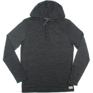 Lucky Brand Mens Knit Heathered Hooded Sweatshirt