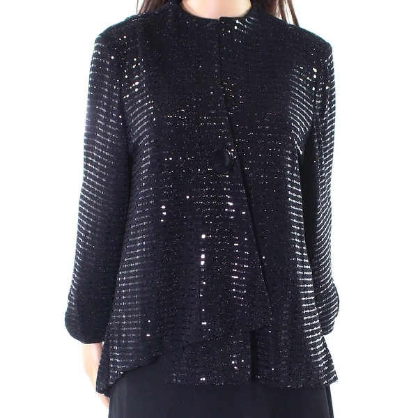 3d9584952be3c6 Shop IC by Connie K NEW Black Women's Size Large L Embellished Jacket -  Free Shipping Today - Overstock - 20589091