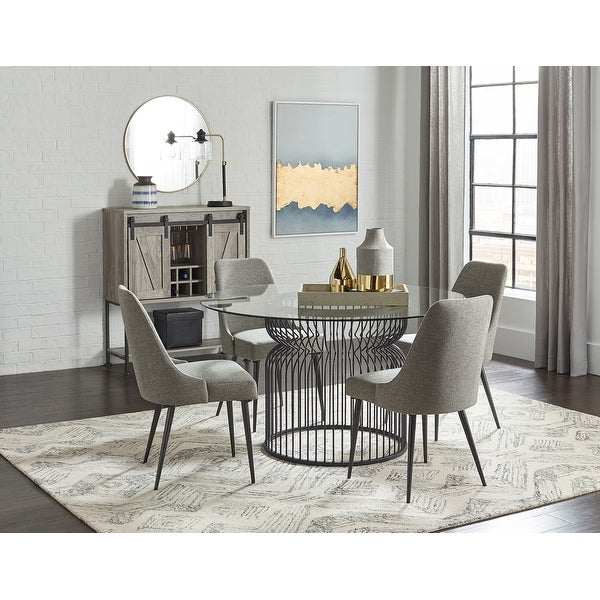 Granvia Gunmetal Round Dining Table Base. Opens flyout.