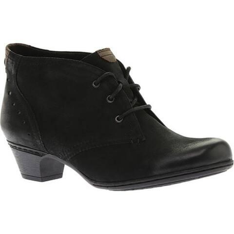 Rockport Women's Cobb Hill Aria Bootie Black Full Grain Leather