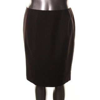 Kasper Womens Solid Flat Front Pencil Skirt