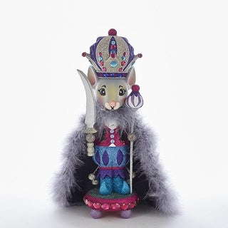 15 Vibrantly Colored Glittering Finished Mouse King Nutcracker Christmas Decorations