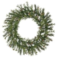 "48"" Mixed Country Pine Artificial Christmas Wreath - Unlit - green"