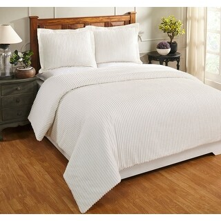 Link to Better Trends Julian Collection in Solid Stripes Design 100% Cotton Tufted Chenille Comforter (As Is Item) Similar Items in As Is