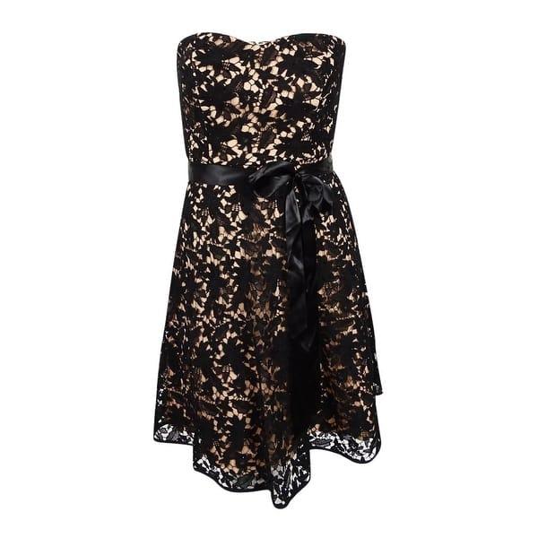 City Chic Women\'s Plus Size Strapless Lace Dress (XS/14W, Black) - Black -  14W