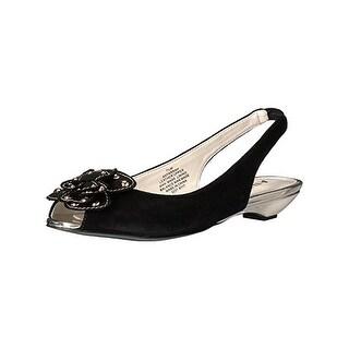 Anne Klein Womens Farrah Slingback Heels Applique Open Toe