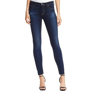 Hudson Womens Nico Skinny Jeans Whisker Wash Mid-Rise