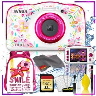 Nikon Coolpix W150 Digital Camera - Flowers (Intl Model) with Camera Cleaning Kit Bundle