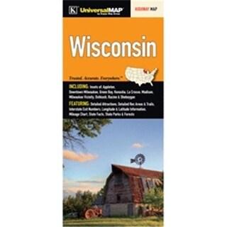 Universal Map 14301 Wisconsin State Fold Map