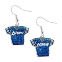 NFL Detroit Lions Glitter Jerseys Sparkle Dangle logo Earring Set Charm Gift