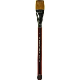 Winsor & Newton - Red Handle Golden Nylon Watercolor Brush - Flat Wash - 1/8""