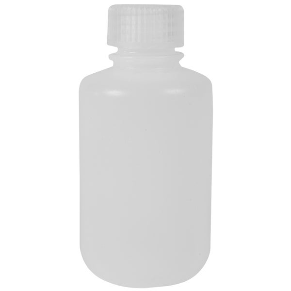 Nalgene HDPE Plastic Narrow Mouth Storage Bottle - 4 oz. - Clear - 4 oz.