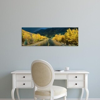 Easy Art Prints Panoramic Images's 'Million Dollar Highway CO' Premium Canvas Art
