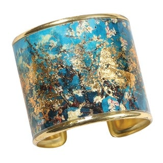 Women's Art Gold-Flecked Cuff Bracelet - Gustav Klimt/Vincent Van Gogh (More options available)