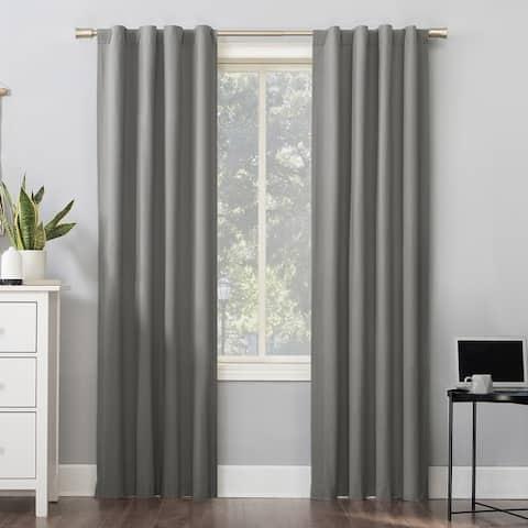 Sun Zero Cyrus Thermal Total Blackout Back Tab Curtain Panel