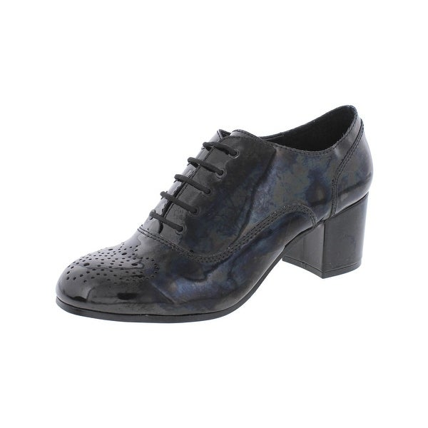 Design Lab Womens Suzie Block Heels Solid Round Toe