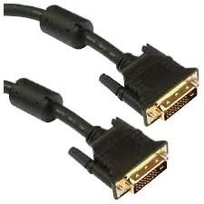 """Unirise DVID-MM-06F Unirise DVI-D Dual Link 24+1 Male - Male - DVI for Video Device, Projector, TV - 6 ft - 1 x DVI-D"