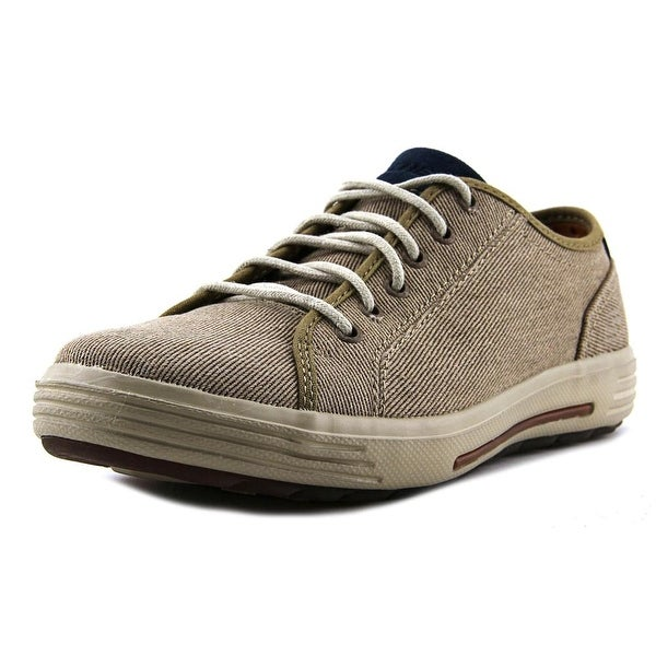 72af7a39525d Shop Skechers Porter - Meteno Men Round Toe Canvas Brown Sneakers ...