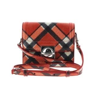 Marc by Marc Jacobs Womens Top Schooly Jax Leather Plaid Crossbody Handbag - SMALL