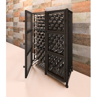 VintageView CC-LOCKER-S2-K  Case and Crate 96 Bottle Capacity 3-1/2 Foot Tall Free Standing Wine Locker with Lockable Doors