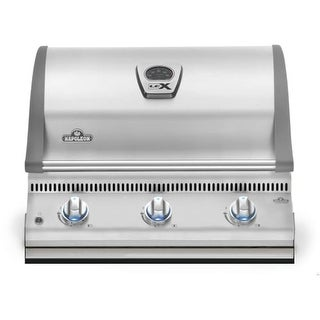 Napoleon BILEX485P-1 Lex 48000 BTU 30 Inch Wide Three Burner Liquid Propane Built-In Grill with Removable Drip Pan