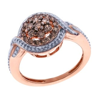 Prism Jewel 0.34Ct Brown Diamond Fabulous Cluster Ring