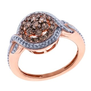 Prism Jewel 0.34Ct Brown Diamond Fabulous Cluster Ring