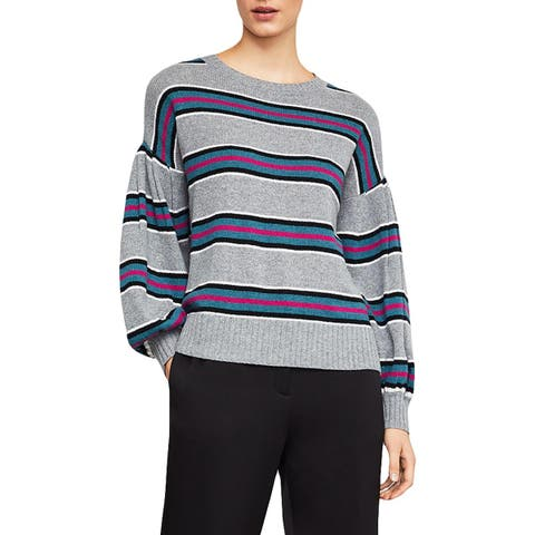 BCBG Max Azria Womens Pullover Sweater Wool Blend Striped
