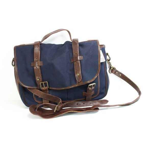 ca034aaa0b24 Polo Ralph Lauren NEW Blue Brown Men  x27 s Commuter Messenger Shoulder Bag