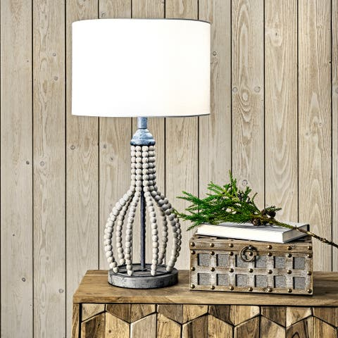 """nuLOOM Valley 25"""" Rattan Table Lamp"""