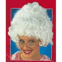Mrs. Santa Claus Curly White Christmas Wig - One Size Fits Most