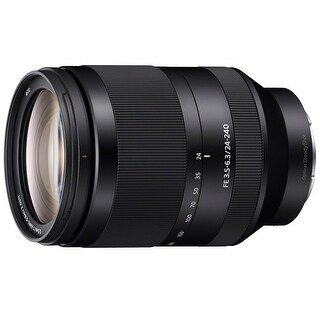 Sony FE 24-240mm f/3.5-6.3 OSS Full-frame E-mount Telephoto Zoom Lens - Black