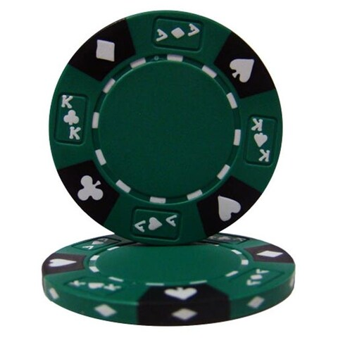 Green Ace King Suited 14 g Poker Chips