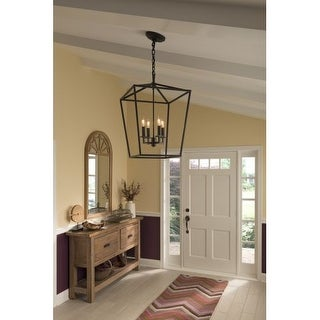 """Norwell Lighting 1081 Cage 18"""" Wide 4 Light Pendant with Steel Cage"""