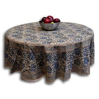 Handmade Vegetable Dye Block Print Cotton Tablecloth Rectangular 60x90  Inches 60x60 Square 72 Inch Round Napkins