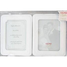 Porcelain Double Wedding Photo Frame