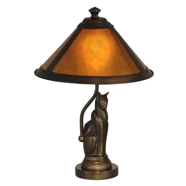 Dale Tiffany TA90197 1 Light Ginger Mica Accent Lamp with Mica Shade - Gold - n/a