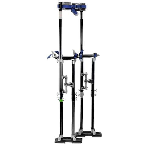 "GypTool Pro 36"" - 48"" Drywall Stilts - Black - 36 - 48 inches"