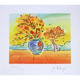 Vase with Tree II, Ltd Ed Lithograph, Peter Max