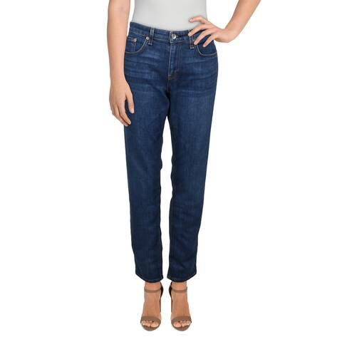 Rag & Bone Womens Dre Straight Leg Jeans Whisker Wash Relaxed - Blue