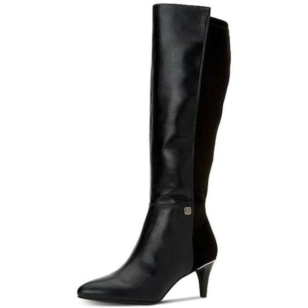 Alfani Womens Hakuup Pointed Toe Knee High Fashion Boots