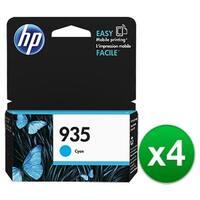 HP 935 Cyan Original Ink Cartridge (C2P20AN) (4-Pack)