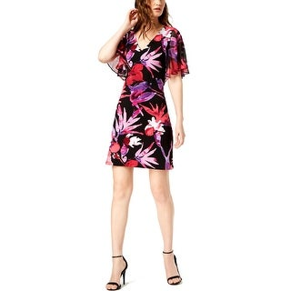 Connected Apparel Womens Sheath Dress Floral Daytime