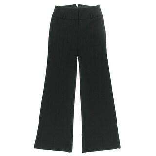 XOXO Womens Juniors Dress Pants Flare Leg Notch Waist - 5/6