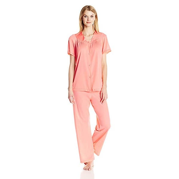 Vanity Fair Women S Coloratura Sleepwear Short Sleeve Pajama Set 90107 Overstock 19813222