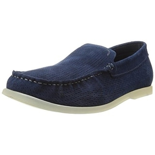 Kenneth Cole Reaction Mens Flat Top Suede Perforated Loafers